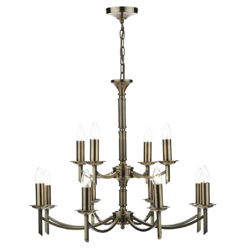 Ambassador 12 Light Dual Mount Pendant Antique Brass AMB1275